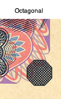 Octagonal(Series-E 5,000 yen note)