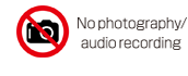 No photography/audio recording