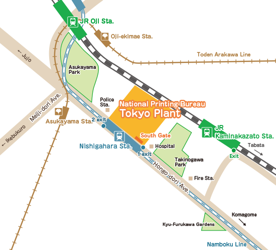Tokyo Plant map